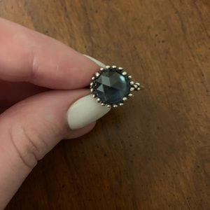Navy blue Pandora ring